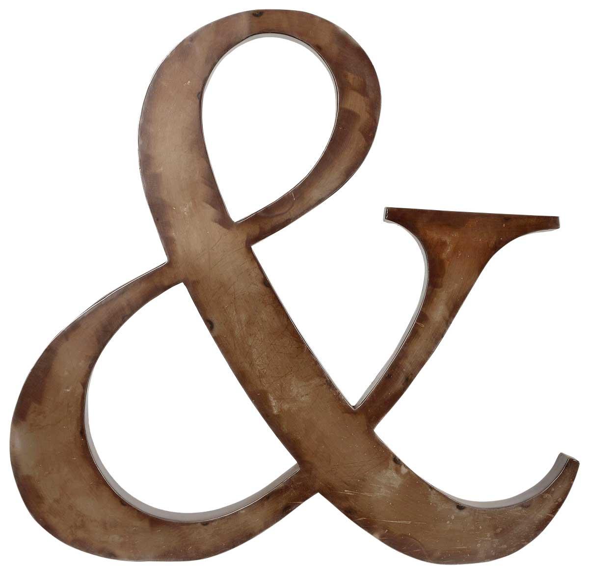 Trademark living stort & dekobogstav med en cool jern finish