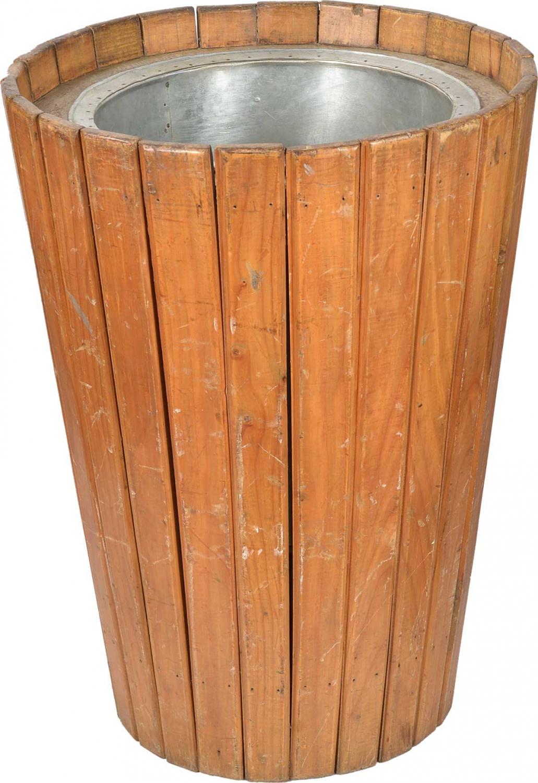 Image of   TRADEMARK LIVING Stor gammel krukke med teaktræslameller