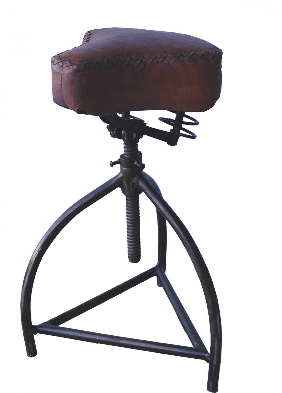 Image of   Trademark Living Raw skammel med cykellædersæde