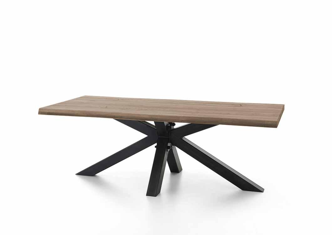 BODAHL Chicago plankebord - olieret egetræ m. metalben 200 x 110 cm.