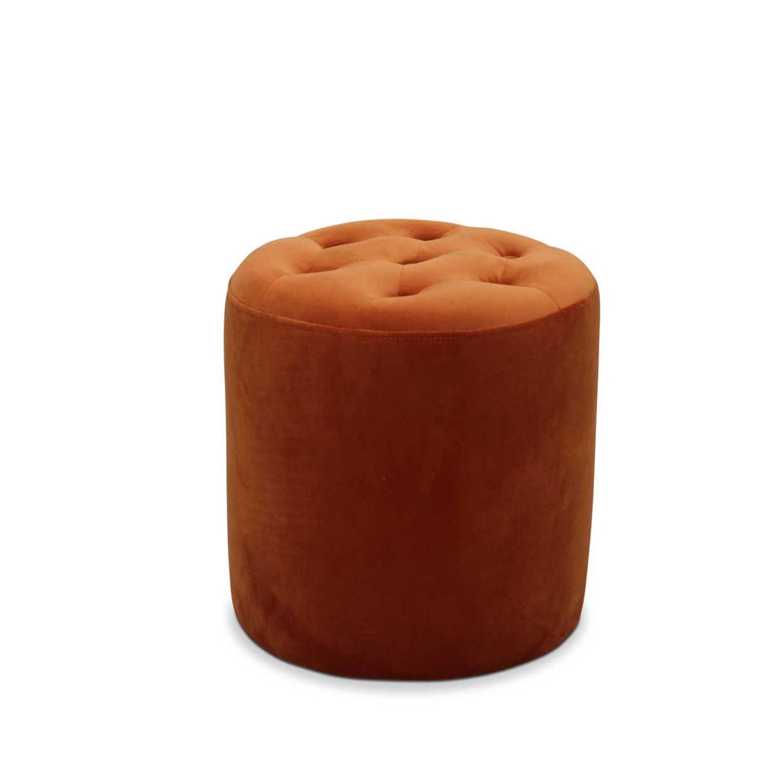 Haga pisa puf - orange fløjl stof, rund (ø 35) fra haga gruppen fra boboonline.dk
