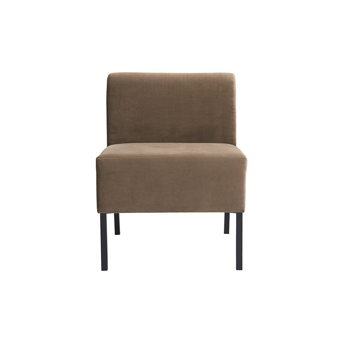 HOUSE DOCTOR sofa modul - sandfarvet stof, midterdel (60x60)