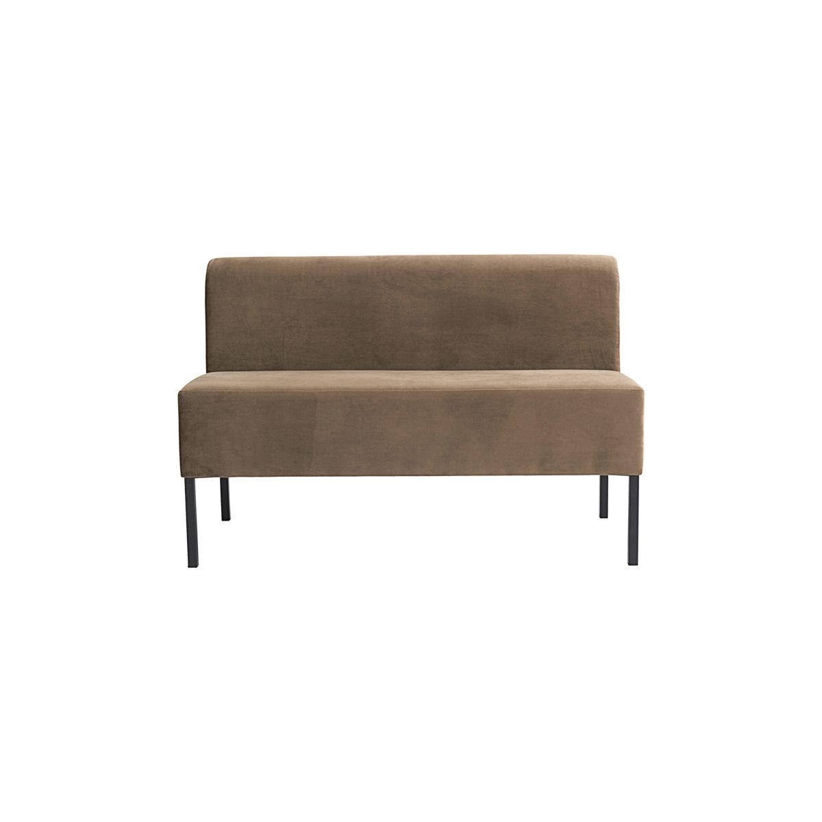house doctor – House doctor sand sofa modul - sandfarvet stof og sorte ben, 2-pers. (120x60) på boboonline.dk