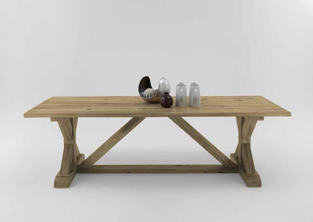BODAHL Versailles plankebord - sand egetræ 260 x 110 cm