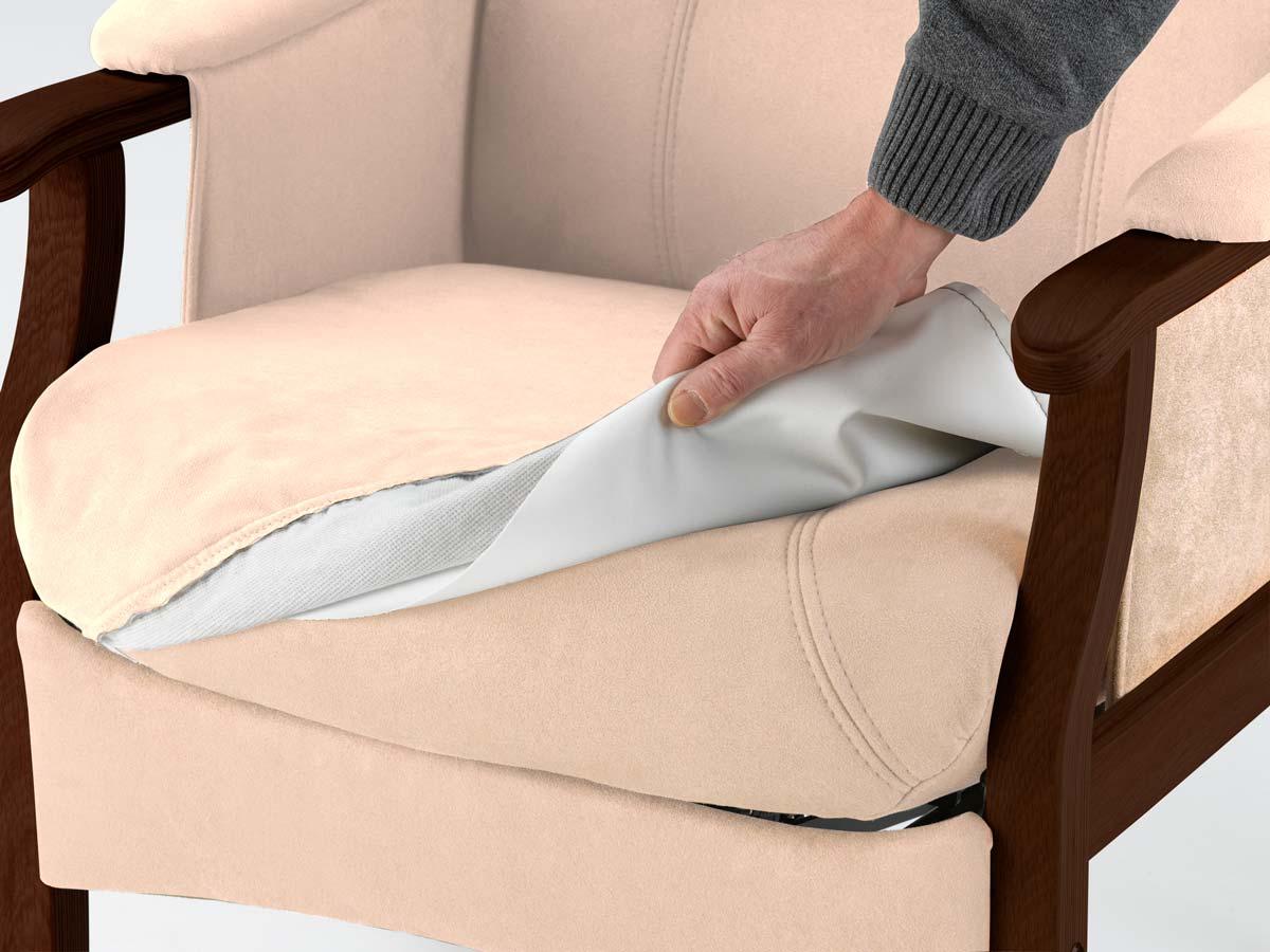 Nordic-c separat inkontinensbetræk - sandfarvet stof, vaskbart