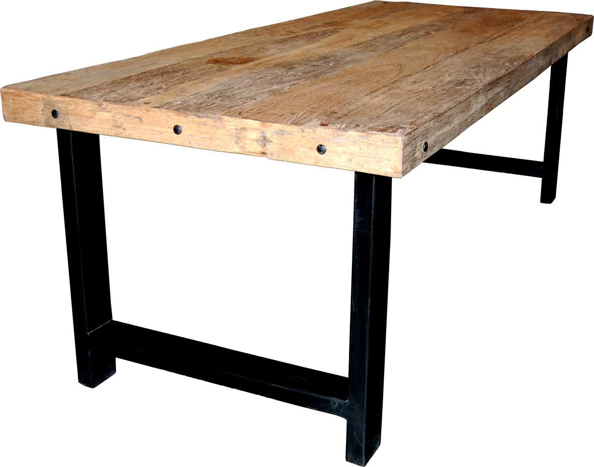 TRADEMARK LIVING Spisebord med smuk massiv bordplade