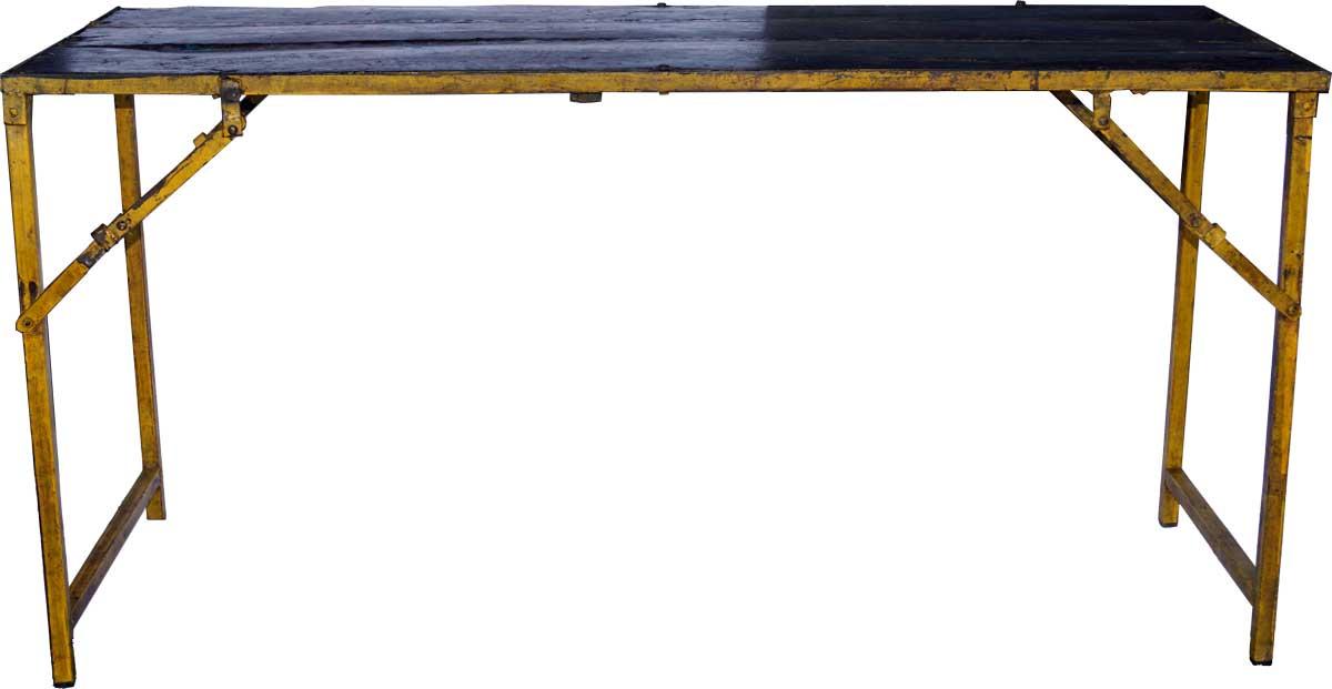 Billede af Trademark Living Bord med en cool kulørt kant - sort og gul