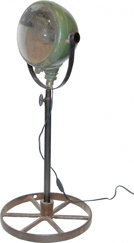 TRADEMARK LIVING RAW gulvlampe - original truckerlygte - grønt jern