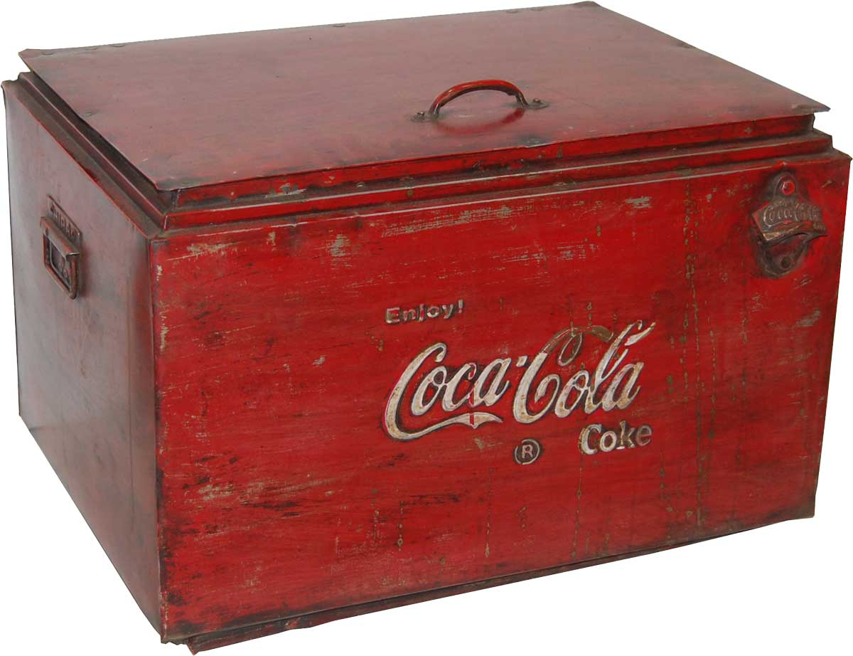 TRADEMARK LIVING Coca Cola køleboks - gammel vintage