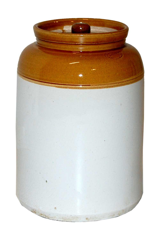 Trademark living glaseret lerkrukke med låg - large