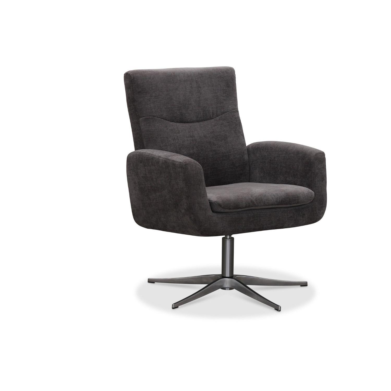 Haga smile drejestol - grå stof, m. aluminium ben, m. armlæn fra haga gruppen fra boboonline.dk