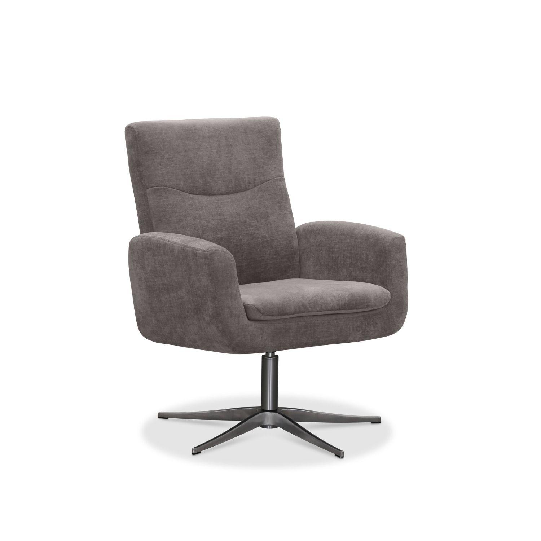Haga smile drejestol - lysegrå stof, m. aluminium ben, m. armlæn fra haga gruppen fra boboonline.dk