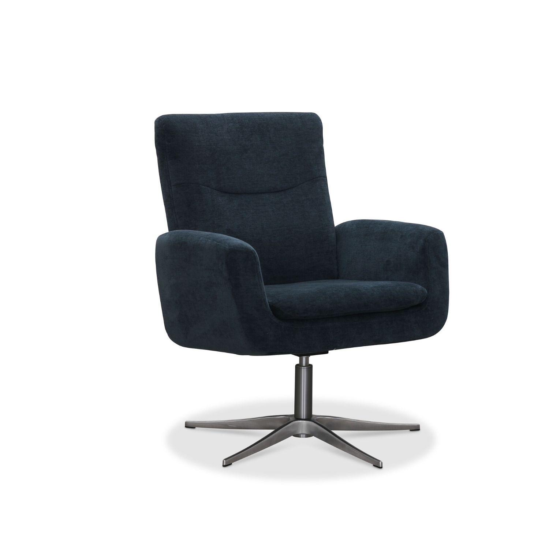 Haga smile drejestol - petroleum blå stof, m. alu ben, m. armlæn fra haga gruppen fra boboonline.dk