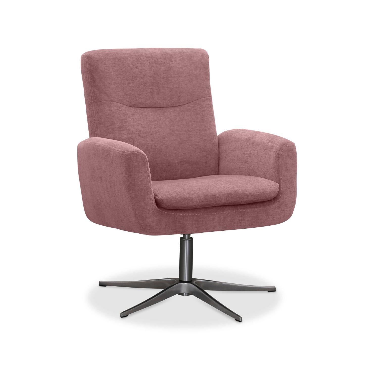 haga gruppen Haga smile drejestol - rosa stof, m. aluminium ben, m. armlæn på boboonline.dk