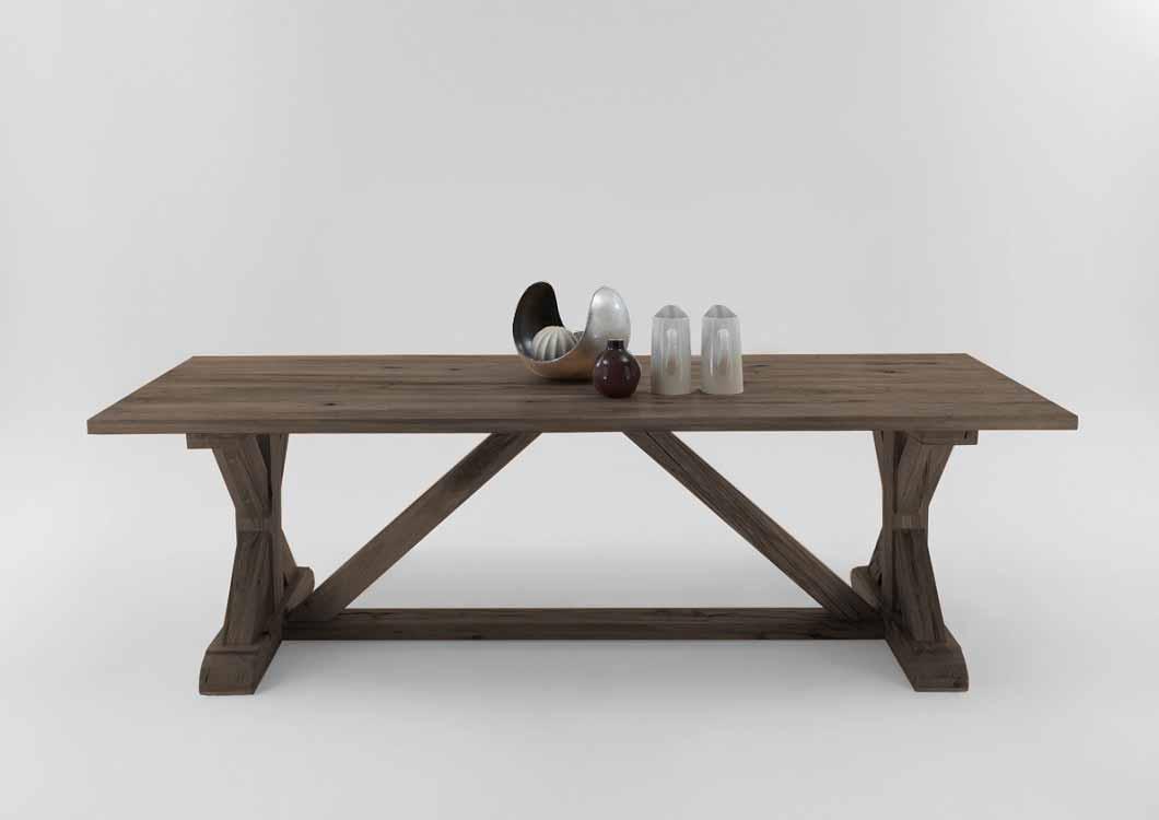 BODAHL Versailles plankebord - røget egetræ 300 x 110 cm.