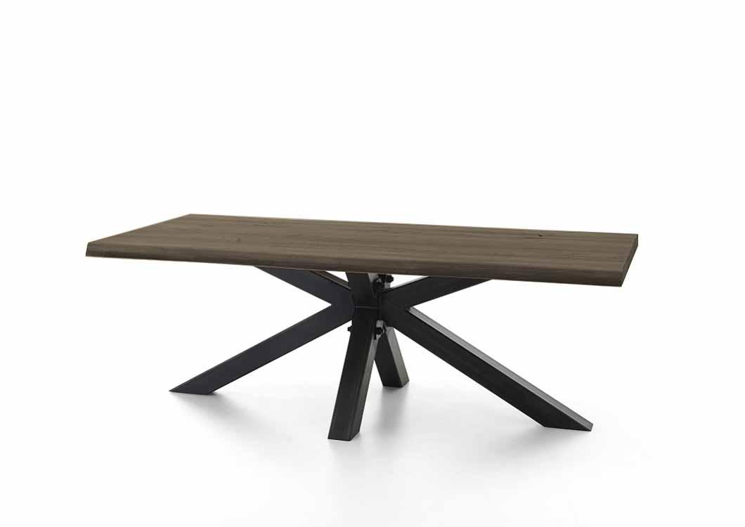 BODAHL Chicago plankebord - røget egetræ m. metalben 220 x 110 cm.