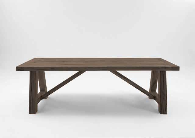 BODAHL Nantes spisebord - smoked egetræ, plankebord 200 x 100 cm