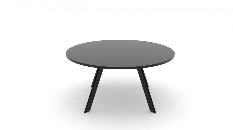 JENSENPLUS FM Meeting spisebord - sort/rød/hvid træ (Ø 120-180) Ø: 180 cm Sort