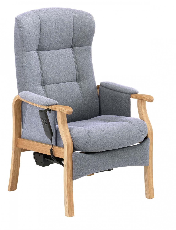 NORDIC-C Sorø medium seniorstol med elektrisk sædeløft og rygmotor, eksl. skammel - grafitgrå