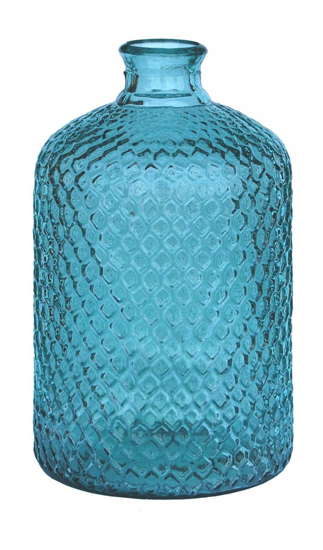 Billede af Trademark Living Skøn dekorativ glasflaske - lyseblå