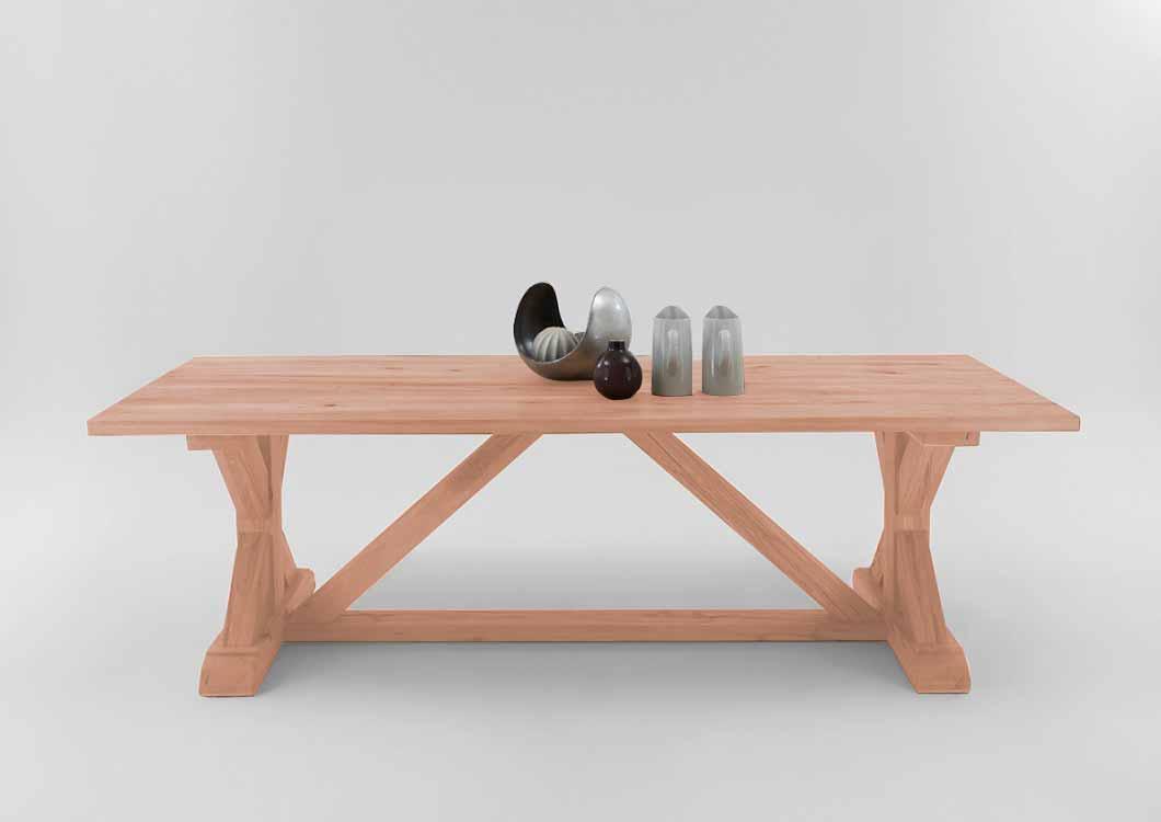 bodahl versailles plankebord - sæbebehandlet egetræ 180 x 100 cm fra bodahl