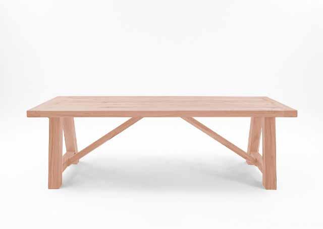 BODAHL Nantes spisebord - sæbebehandlet egetræ, plankebord 180 x 100 cm